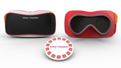 View-Master mit Scheibe und Smartphone