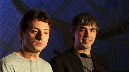 Larry Page und Sergey Brin (links)