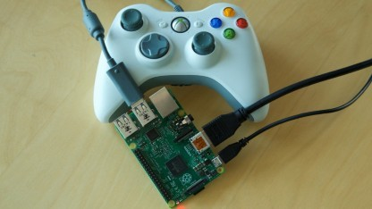 Raspberry Pi 2 mit Xbox-360-Controller