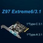 Mit Stecker Typ C: Asrock stattet Intel-Mainboards mit USB-3.1-Karte aus