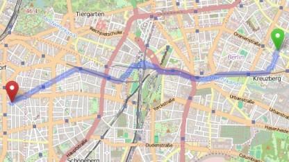 Die Routenplanung funktioniert jetzt auf Openstreetmap.org.