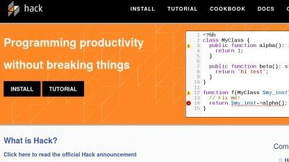 Die Sprache Hack bekommt eine eigene Spezifikation.
