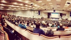 Der größte Vortragsraum - gefüllt von der Community