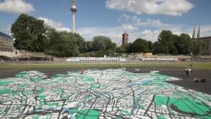 Berliner Stadtplan als Kunstobjekt