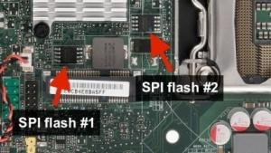 Mit Hilfe der ausgelesenen Firmware dieser Chips konnte Oleksiuk seinen Exploit des UEFI-Bios schreiben.