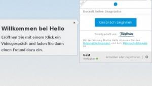 Firefox Hello benutzt WebRTC zum Videochat im Browser.
