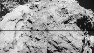 Komet Tschurjumow-Gerassimenko: austretende Gase und Staub beobachtet