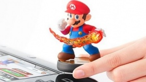 Amiiboo auf dem Gamepad der Wii U