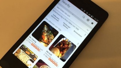 Die Scopes in Ubuntu for Phones auf dem BQ Aquaris E4.5