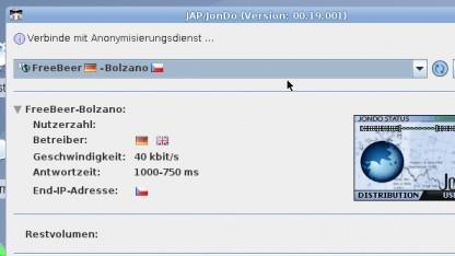 Das JAP-Netzwerk bietet anonymes Surfen, ist aber in der kostenfreien Variante sehr langsam.