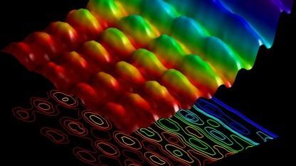 Doppelnatur des Lichts: stehende Welle auf einem Nanodraht