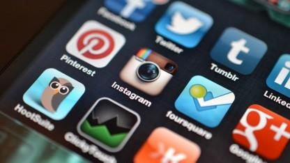 Apps von sozialen Netzwerken auf einem Smartphone