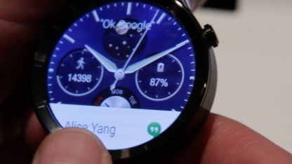 Huawei Smartwatch mit Android Wear auf dem MWC 2015