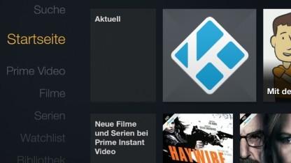 Kodi im Aktuell-Bereich des Fire-TV-Startbildschirms