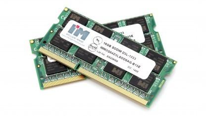 Zwei DDR3L-1333-SO-DIMMs mit 16 GByte Kapazität