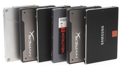 Die sechs getesteten SSDs
