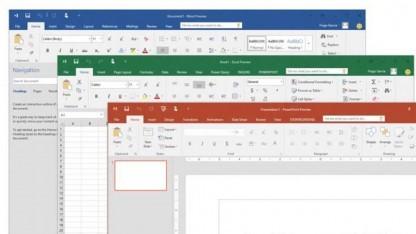Excel, Word und Powerpoint in Office 2016 für Windows