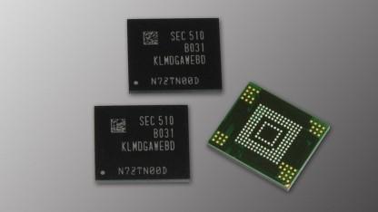 eMMC-5.0-Flash mit 128 GByte