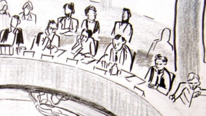 Der Mitglieder des NSA-Ausschusses befragen einen als Zeugen geladenen BND-Mitarbeiter.