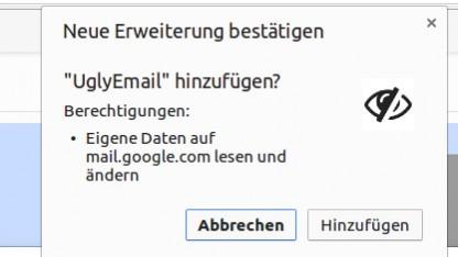 Uglyemail zeigt an, ob bei Gmail erhaltene E-Mails Pixeltracking-Bilder enthalten.