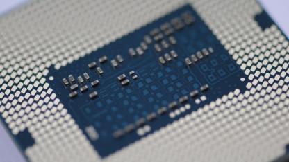Unterseite eines Sockel-1150-Prozessors