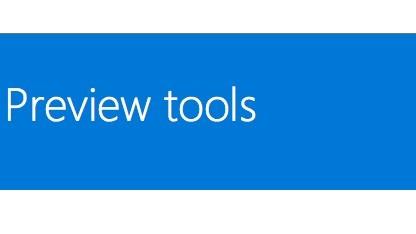 Mit den Preview Tools können Entwickler an Universal-Apps unter Windows 10 arbeiten.