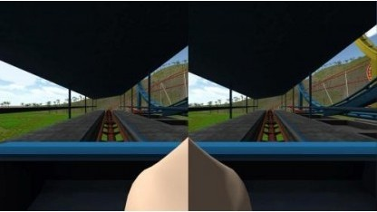 Virtuelle Nase in einer stereoskopen VR-Anwendung