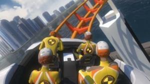 In Screamride auf der Achterbahn