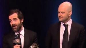 Sam und Dan Houser bei einer Preisverleihung 2014
