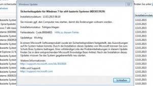 Ein Update vom letzten Patchday macht unter Windows 7 und Server 2008 R2 Probleme.