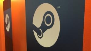 Geschlossene Tür mit Steam-Logo auf der GDC 2015