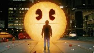 Pac-Man steht vor seinem Schöpfer in Pixels.