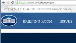 Die Webseite whitehouse.gov ist nur noch über HTTPS erreichbar.
