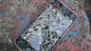 Zerbrochenes iPhone-Display