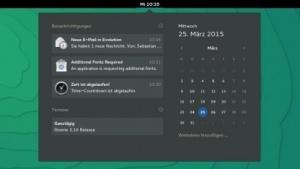 Für Gnome 3.16 haben die Entwickler das System der Benachrichtigungen neu gestaltet.
