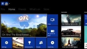 Benutzeroberfläche der Xbox One