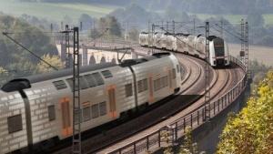 Zug des Rhein-Ruhr-Express
