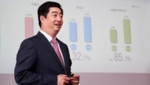 Ken Hu, Deputy Chairman und Rotating CEO, gibt die Geschäftszahlen bekannt.