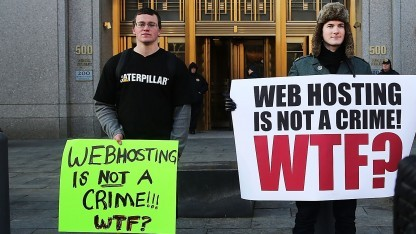 Protestaktion gegen die Verhandlung gegen den Silk-Road-Betreiber Ross Ulbricht