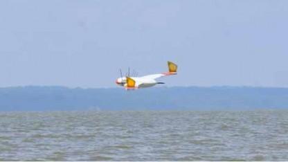 Flying Wanda kurz vor dem Eintauchen