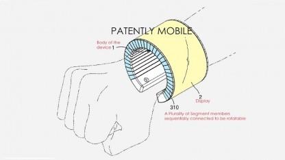 So stellt sich Samsung ein flexibles Display-Armband vor.