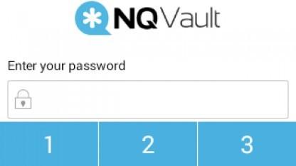 Passwort-Eingabe von NQ Vault - Sicherheit bietet die App nicht.