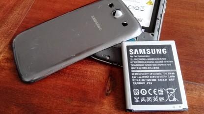 Alle bestellten Samsung-Akkus waren Fälschungen - hier der Original-Akku eines Galaxy S3.