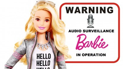 Die sprechende und lauschende Barbie erhält den diesjährigen Big Brother Award im Bereich Technik.