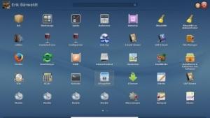 Die Arbeitsfläche der Linux-Distribution Rosa Desktop Fresh