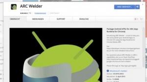 Android-Apps können in Chrome unter Windows, Mac OS X oder Linux gestartet werden.