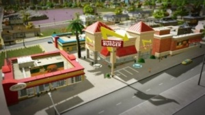 Dieser Burgerladen ist eines von Bryan Shannons Gebäuden.