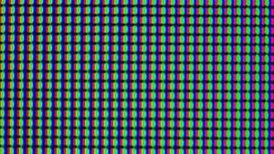 Sharp möchte noch hochauflösendere Displays produzieren - hier ein IPS-Display in Nahaufnahme.