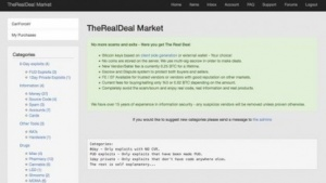 "Screenshot der Seite ""The Real Deal"""