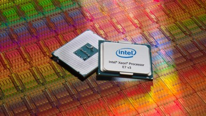 Wafer mit Haswell-EX-Chips